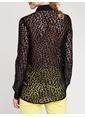 Love'n Fashion Paris Şifon Gömlek Siyah